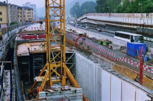 Arbeiten an der A2/6 im Jahr 2000.