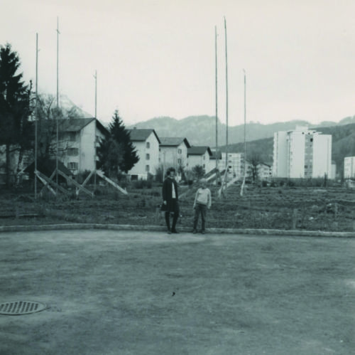 Profil des Korporationshauses «Hans-Reinhard-Strasse 1» aus der Bauphase 1965/66.