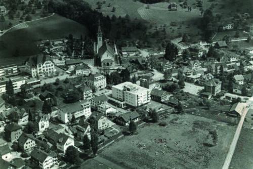 Flugbild Horw Zentrum, 1968