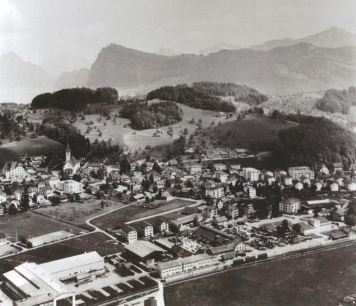 Dorf, Bahnhof, Ebenau, Bürgenstock, 1965