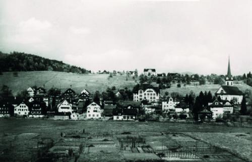 Horwer Allmend, Dorfzentrum, Kirchfeldhügel, 1930