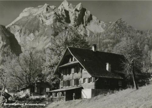 Das Gasthaus Schwendelberg.